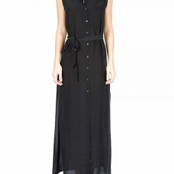 Siyah Uzun Gömlek Elbise Modelleri