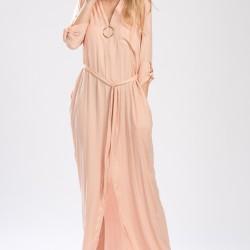 Somon Rengi Salaş Setre Elbise Modelleri