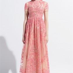 Somon Rengi Yeni Sezon Bayramlık Elbise Modelleri