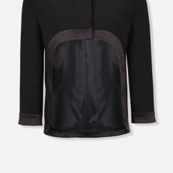 Truvakar Kollu Siyah Vakko Ceket Modelleri