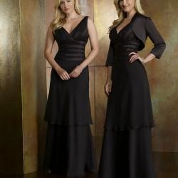 V Yaka Siyah Yeni Sezon Bolerolu Abiye Modelleri