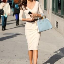 V Yaka Yeni Sezon Bayramlık Elbise Modelleri