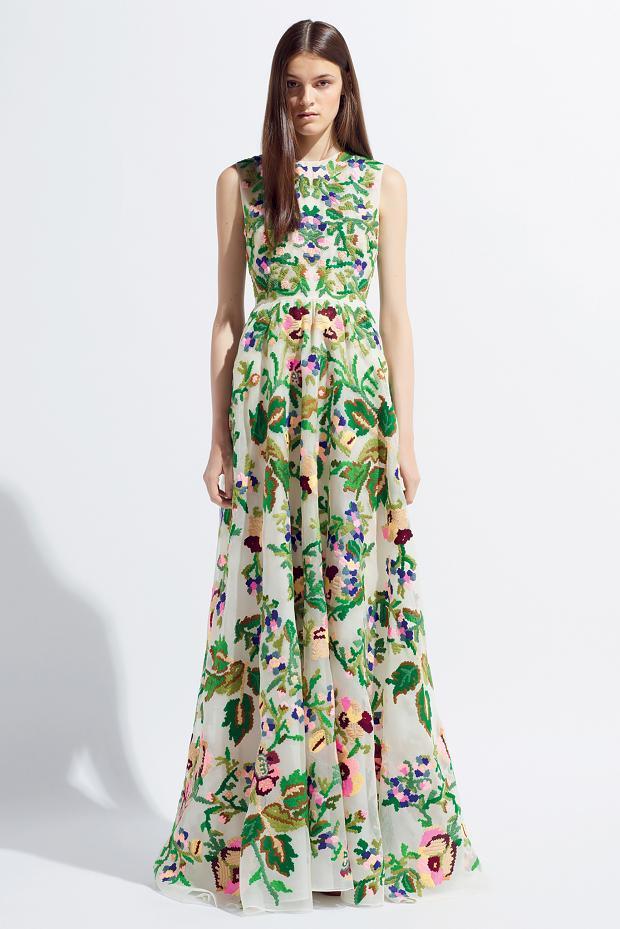 bf00a144a84b3 Yeşil Çiçek Desenli Elbise Modelleri »