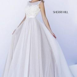 Zarif Beyaz Sherri Hill Abiye Modelleri