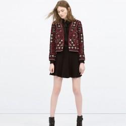 Etnik Desenli Zara Ceket Modelleri