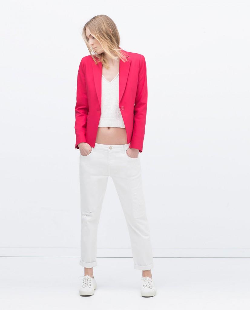 Fuşya Blazer Zara Ceket Modelleri