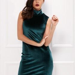 Kolsuz Yeşil 2015 Kısa Elbise Modelleri