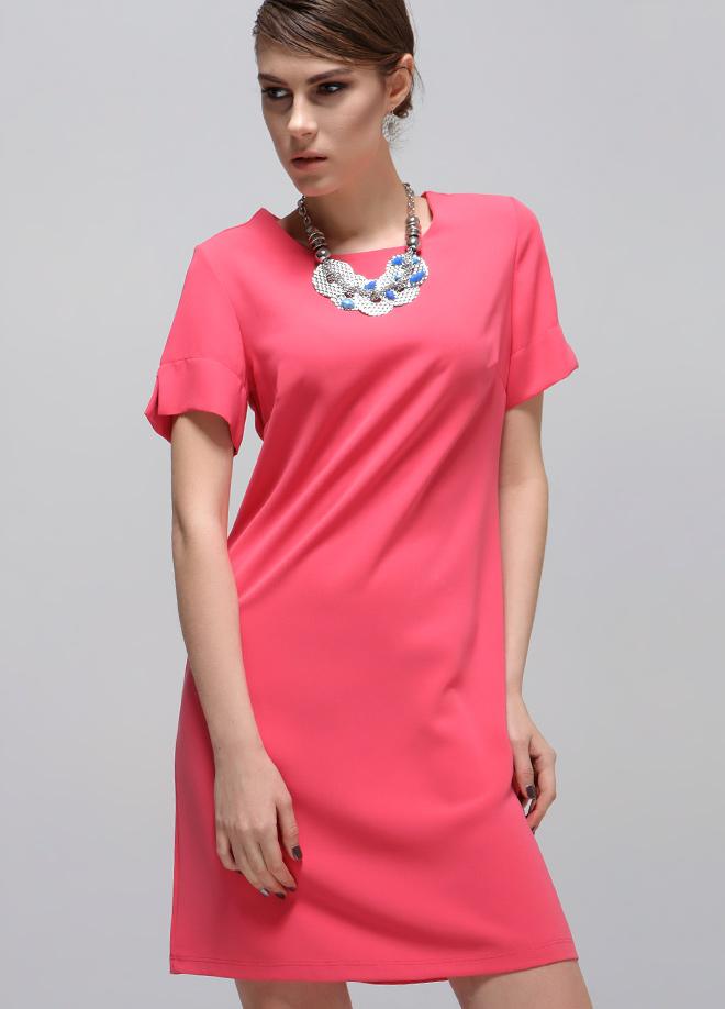 Mercan Rengi 2015 Kısa Elbise Modelleri