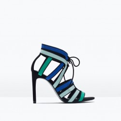 Topuklu Şık Zara 2015 Sandalet Modelleri
