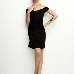 V Yaka Siyah 2015 Kısa Elbise Modelleri