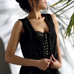 Zımba Detaylı Siyah 2015 Yelek Modelleri