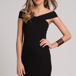 Çapraz Askılı 2015 Siyah Elbise Modelleri