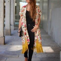 Çiçek Desenli 2015 Kimono Modelleri