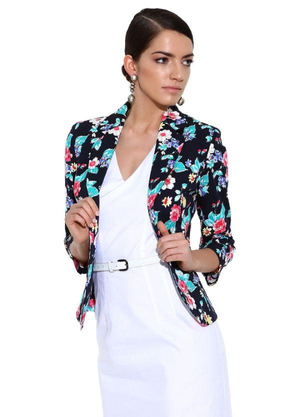 Çiçek Desenli Ceket Perspective 2015 Modelleri