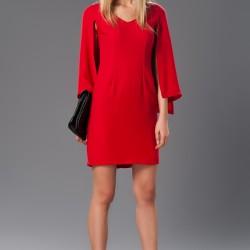 İddialı Yetim Kol 2015 Kırmızı Elbise Modelleri