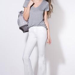 İspanyol Paça Ekru 2015 Yüksek Bel Pantolon Modelleri