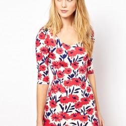 Şirin Yazlık Çiçekli Elbise Modelleri