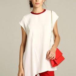 Asimetrik Kesim Beyaz Bluz Berr-In Yeni Sezon Modelleri