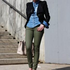 Asker Yeşili Pantolon Kombinleri