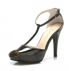 Bilekten Bağlamalı Siyah Pierre Cardin 2015 Ayakkabı Modelleri