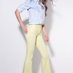 Bol Paça Sarı 2015 Yüksek Bel Pantolon Modelleri