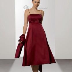 Bordo 2015 Spagetti Askılı Elbise Modelleri