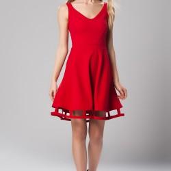 Etek Ucu Detaylı 2015 Kırmızı Elbise Modelleri