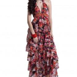 Farklı Yazlık Çiçekli Elbise Modelleri