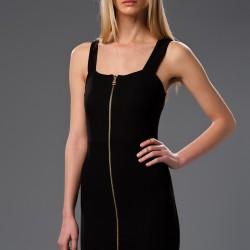 Fermuar Detaylı 2015 Siyah Elbise Modelleri