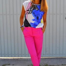 Fuşya 2015 Neon Pantolon Modelleri
