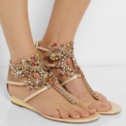 Gösterişli Taşlı Sandalet Modelleri