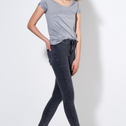 Gri 2015 Yüksek Bel Pantolon Modelleri