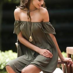 Haki Elbise Pretty Mark Yaz Sezonu Modelleri