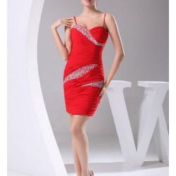 Kırmızı 2015 Spagetti Askılı Elbise Modelleri
