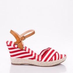 Kırmızı Yazlık Dolgu Topuk Ayakkabı Modelleri