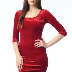 Kadife 2015 Kırmızı Elbise Modelleri
