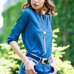 Kobalt Mavi Bluz Pretty Mark Yaz Sezonu Modelleri
