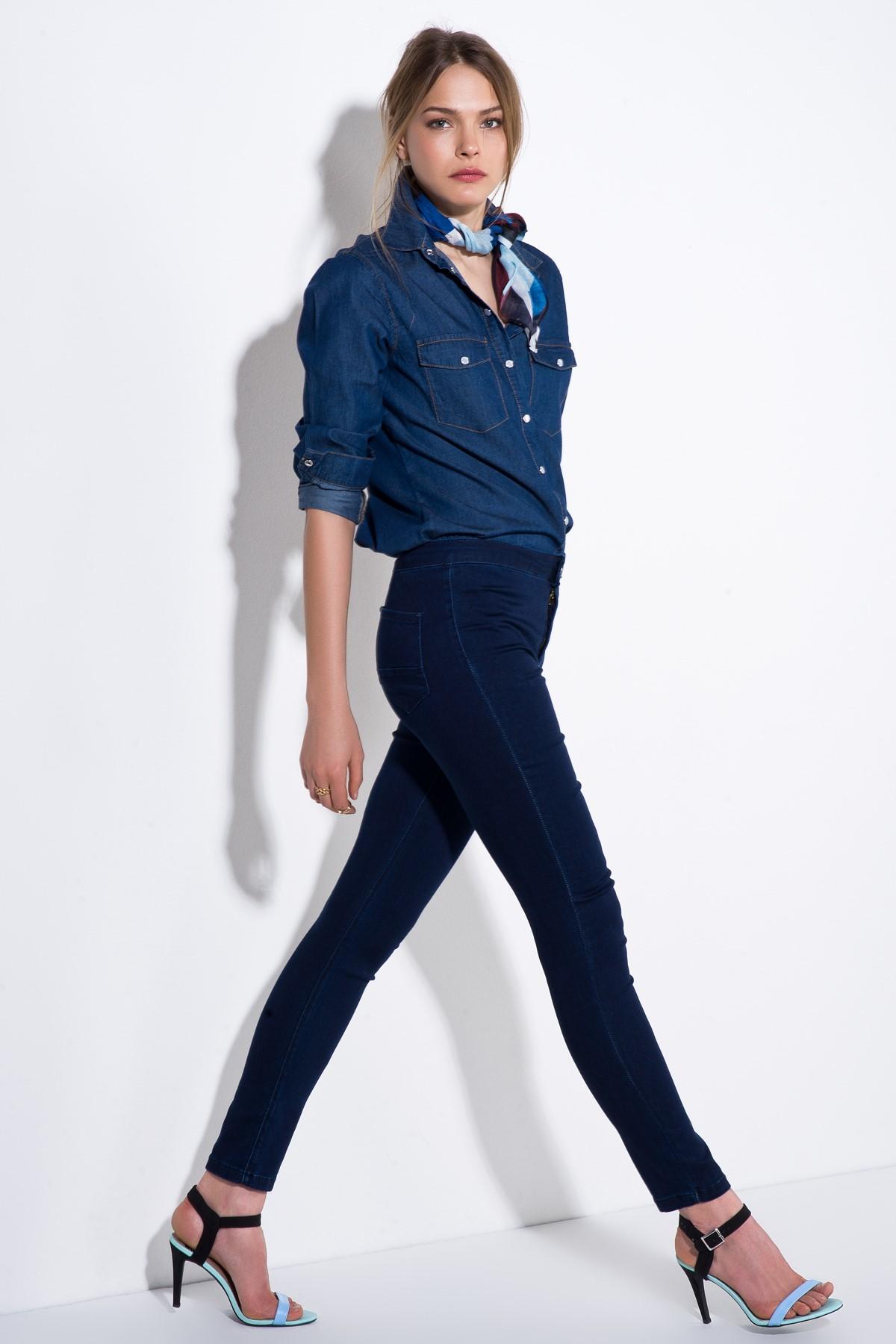Lacivert 2015 Yüksek Bel Pantolon Modelleri