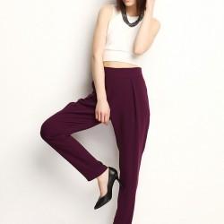 Mürdüm Rengi Şalvar Pantolon Berr-In Yeni Sezon Modelleri