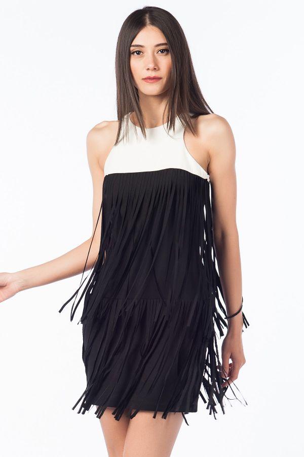 Püsküllü 2015 Siyah Elbise Modelleri
