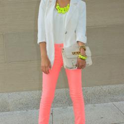 Pembe 2015 Neon Pantolon Modelleri