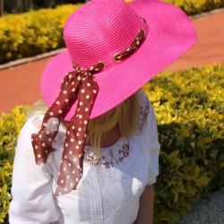 Pembe Hasır Şapka Modelleri