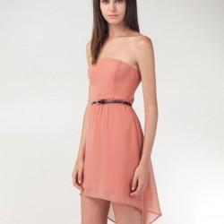 Pudra Asimetrik Kesim Elbise Modelleri