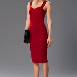 Sade Askılı 2015 Kırmızı Elbise Modelleri