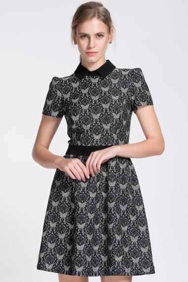 Sade Jakarlı Elbise Modelleri