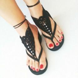Sade Taşlı Sandalet Modelleri