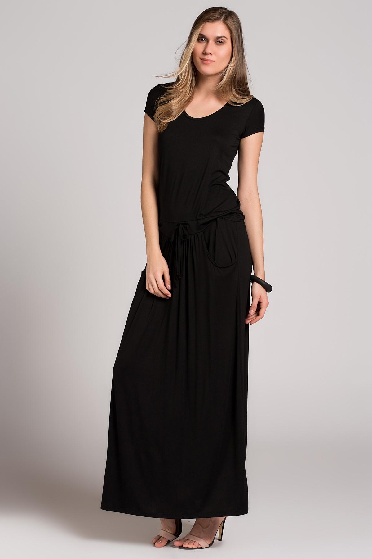 Sade Uzun 2015 Siyah Elbise Modelleri