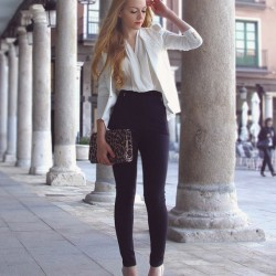 Siyah 2015 Yüksek Bel Pantolon Modelleri