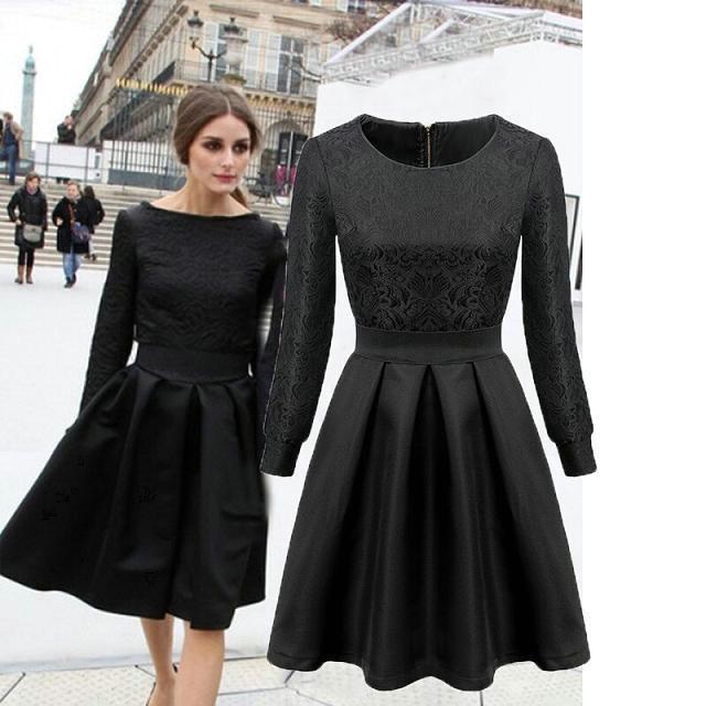 Siyah Jakarlı Elbise Modelleri