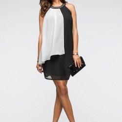 Tül Detaylı Sıfır Kol 2015 Yazlık Elbise Modelleri